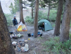 Campsite on first night